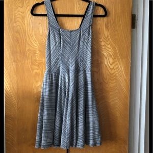 Free people square neck lace back flare dress XS
